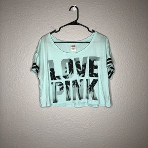 VS Pink Cropped short Sleeve Tee